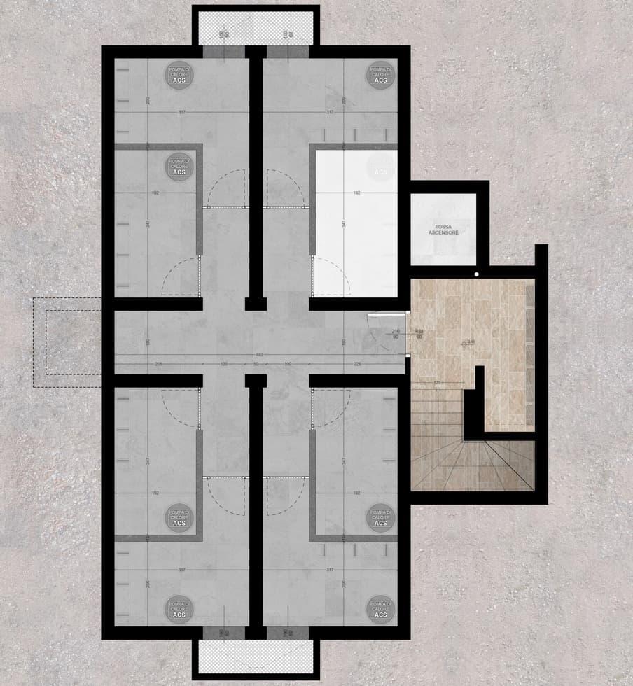 planimetrie klima home villafranca piano interrato attico