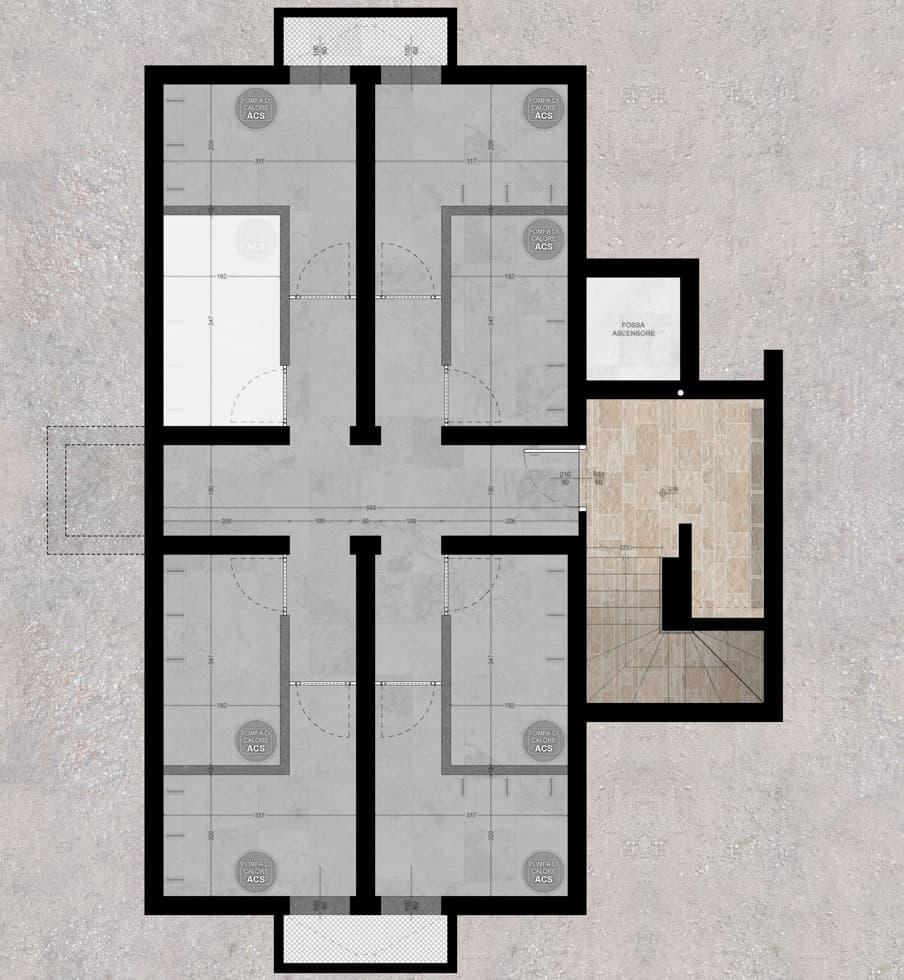 planimetrie klima home villafranca piano interrato quadrilocale